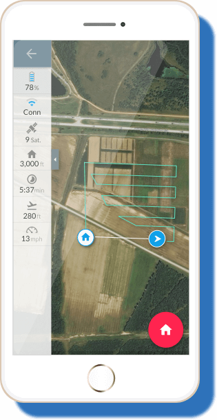 iPhone mobile flying app drone software